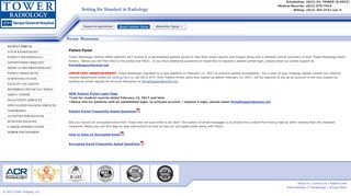 Tower Radiology Patient Portal