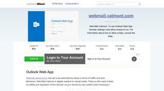 Valmont Webmail Login