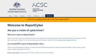 Acorn Cyber Reporting Portal