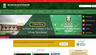 Adeyemi University Of Education Portal