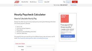 Adp Portal Paycheck Calculator