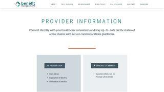 Advance Benefit Management Systems Provider Portal