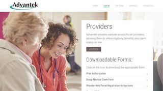 Advantek Benefit Administrators Provider Portal