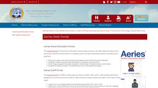 Aeries Parent Portal Sbcusd