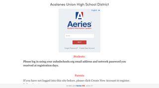 Aeries Portal Acalanes