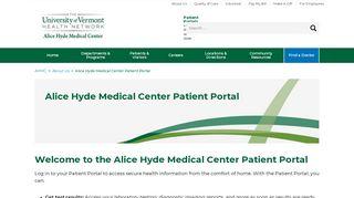 Alice Hyde Patient Portal