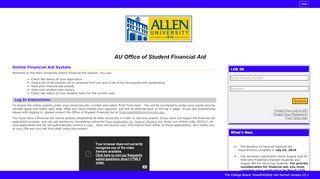 Allen University Financial Aid Portal