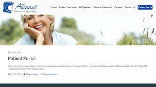Alliance Obgyn Patient Portal