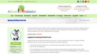 Alliance Pediatrics Patient Portal