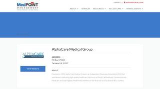 Alpha Care Provider Portal