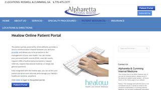 Alpharetta Internal Medicine Portal