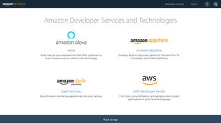 Amazon Developer Portal