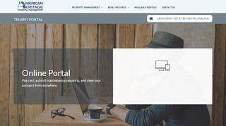 American Heritage Property Management Tenant Portal
