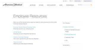 American Standard Employee Portal