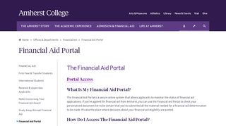 Amherst College Financial Aid Portal