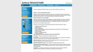 Anthem Availity Web Portal