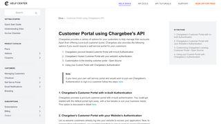 Api Customer Portal