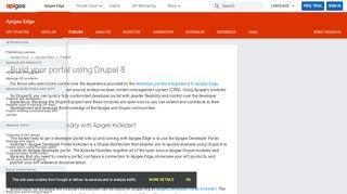 Apigee Developer Portal Drupal