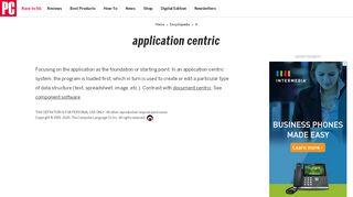 Application Centric Portal