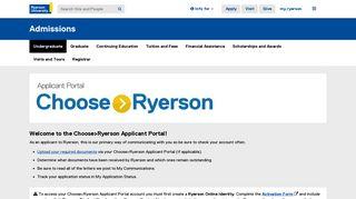Application Portal Ryerson