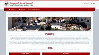 Arab American University Jenin Portal