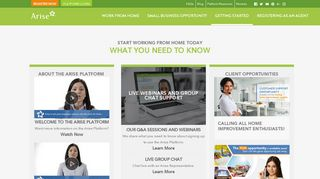 Arise Work From Home Portal