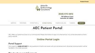 Asheville Endocrinology Patient Portal