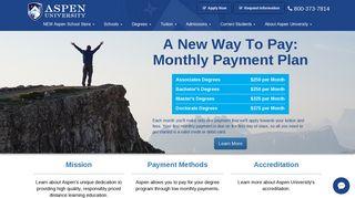 Aspen University Student Portal