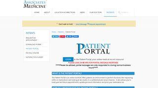 Associates In Medicine Patient Portal