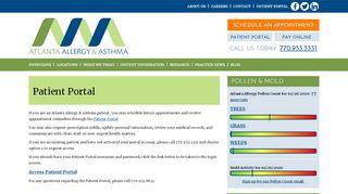 Atlanta Allergy Patient Portal