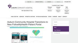 Auburn Hospital Patient Portal