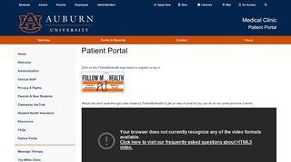 Auburn Med Clinic Patient Portal