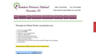 Audubon Women's Patient Portal
