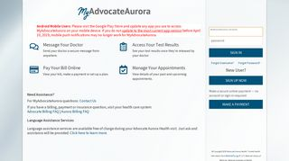 Aurora Health Care Patient Portal