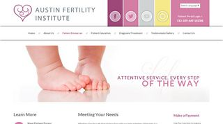Austin Fertility Institute Patient Portal