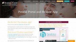Avance Care Patient Portal