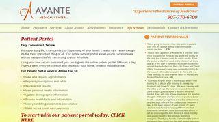 Avante Patient Portal