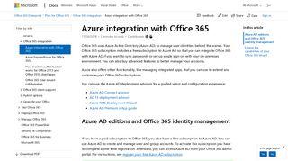 Azure Management Portal Office 365