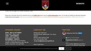 Ballybunion Members Portal
