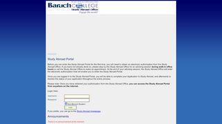 Baruch Study Abroad Portal