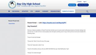 Bay City Isd Parent Portal