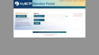 Bctf Member Portal