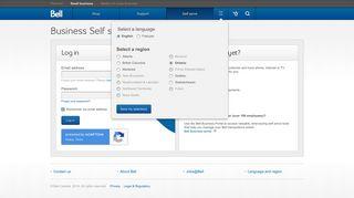Bell Business Self Service Portal