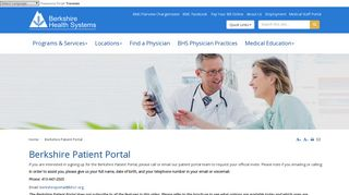 Berkshire Health Systems Patient Portal