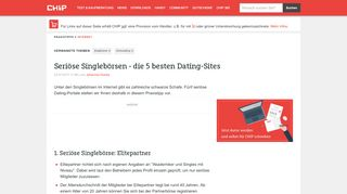 Bestes Dating Portal