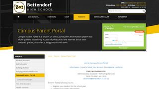 Bettendorf Parent Portal