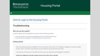 Binghamton Housing Portal