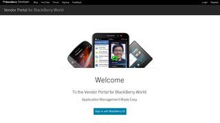 Blackberry Vendor Portal