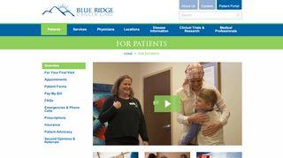 Blue Ridge Cancer Care Patient Portal