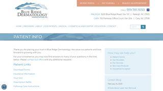 Blue Ridge Dermatology Patient Portal